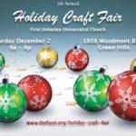 Holiday Craft Fair & Poinsettia Sale, Dec. 2