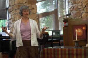 The Rev. Gail Seavey during worship service