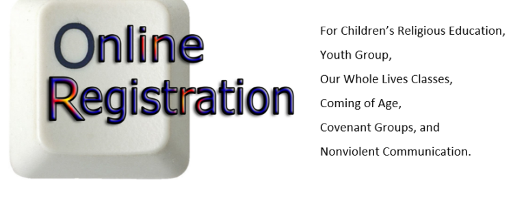 Register for Religious Education, Youth Group and Faith Development