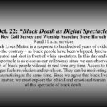 Black Lives of UUs: Teach-in/Talk Back after services, Oct. 22