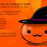 Halloween Party for Children & Youth, Oct. 29