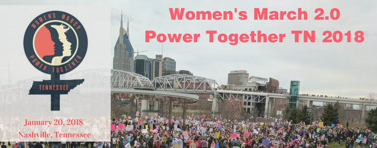 Woman's March 2.0 Power Together TN 2018