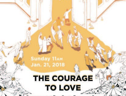 """The Courage to Love: Worship and Fellowship"" service in Knoxville."